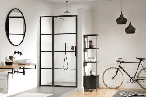 Stoere industriële look in je badkamer met stalen deuren - Woonkrant ...